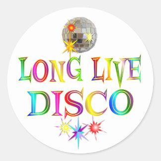 Long Live Disco Round Sticker
