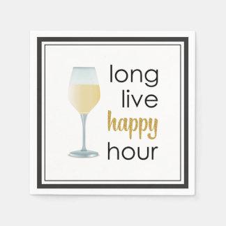 Long Live Happy Hour Funny Quote Paper Serviettes