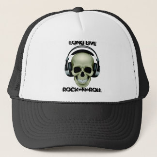 LONG LIVE ROCK-N-ROLL TRUCKER HAT
