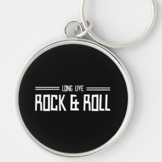 Long Live Rock & Roll Silver-Colored Round Key Ring
