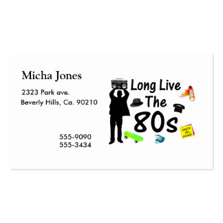 Long Live The 80s Culture Double-Sided Standard Business Cards (Pack Of 100)