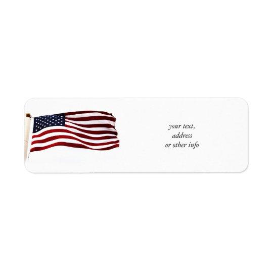 Long May It Wave (3) Return Address Label