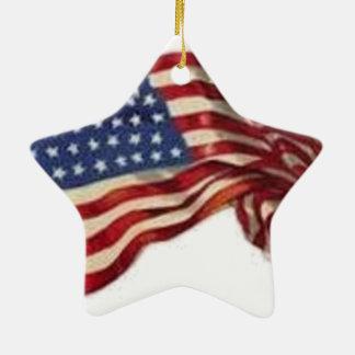 Long May She Wave - Flag Ceramic Ornament