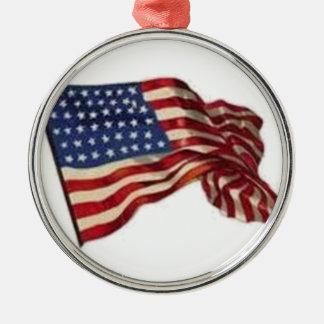 Long May She Wave - Flag Metal Ornament
