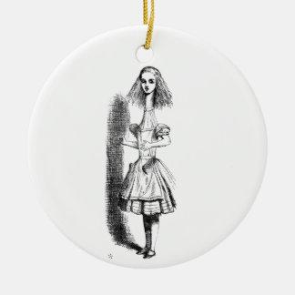Long Neck Alice Ceramic Ornament