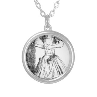 Long Neck Alice Silver Plated Necklace