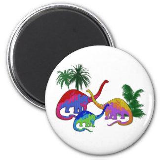 Long Necked Dinosaur Family Magnet