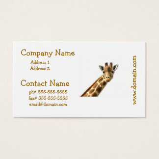 Long Necked Giraffe Business Cards