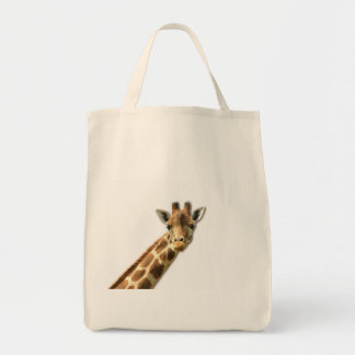 Long Necked Giraffe  Grocery Tote Bag