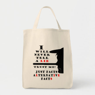 Long Nose Alternative Facts Grocery Tote Bag