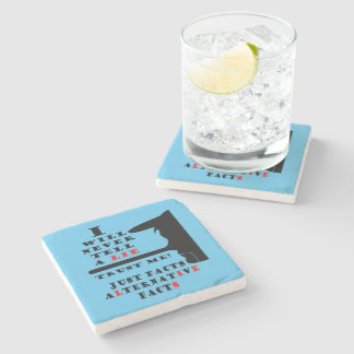 Long Nose Alternative Facts Marble Coaster Stone Coaster