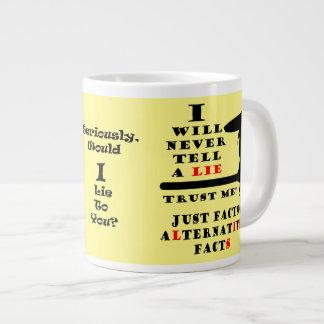 Long Nose Alternative Facts Never Lie Jumbo Mug