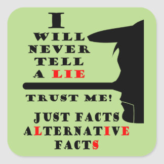Long Nose Alternative Facts Sq Stickers