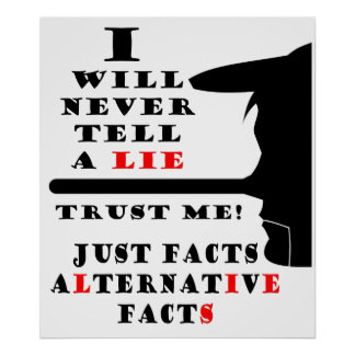 Long Nose Alternative Facts Value Poster Paper