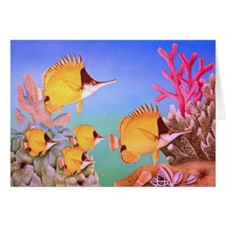 Long-nose Butterfly Fish Greeting Card