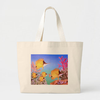 Long-nose Butterfly Fish Jumbo Tote Bag