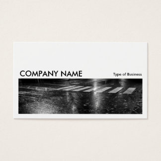 Long Picture 0258 - Wet Autumn Road at Night Business Card