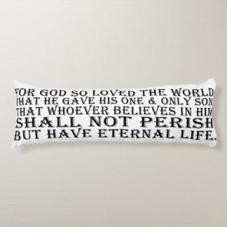 Long Pillow - John 3:16