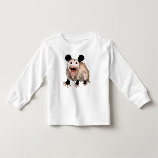 long-poor t-shirt with sweet opossum