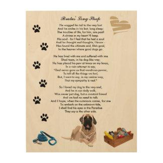Long Sleep Poem Death Dog Rainbow Bridge Wood Print