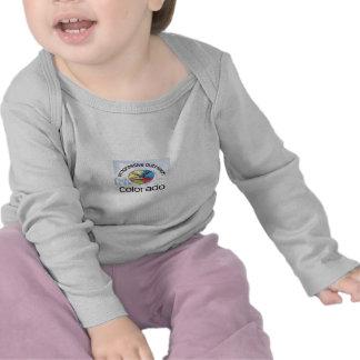 Long sleeve baby shirt with mountain logo