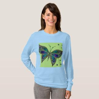 Long Sleeve Blue Fibromyalgia Awareness T Shirt