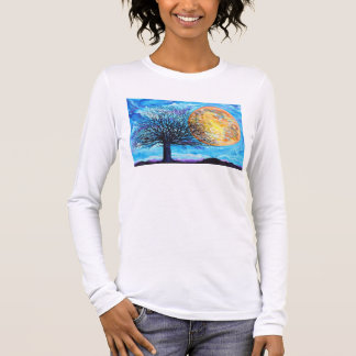 Long Sleeve Full Moon Tree T-Shirt