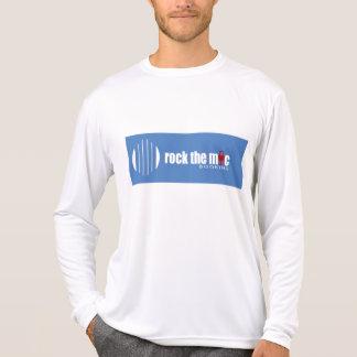 Long Sleeve Micro Fiber with blue logo T-Shirt
