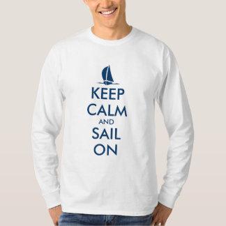 Long sleeve sailing shirt | Keep calm and sail on