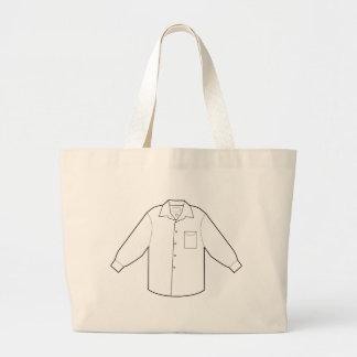 Long Sleeve Shirt Drawing Graphic Jumbo Tote Bag