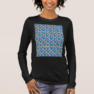 Long sleeve T with blue butterflies. Long Sleeve T-Shirt