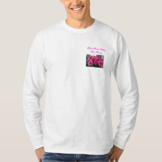Long SleeveT-Shirt with Small Pink Roses T-Shirt