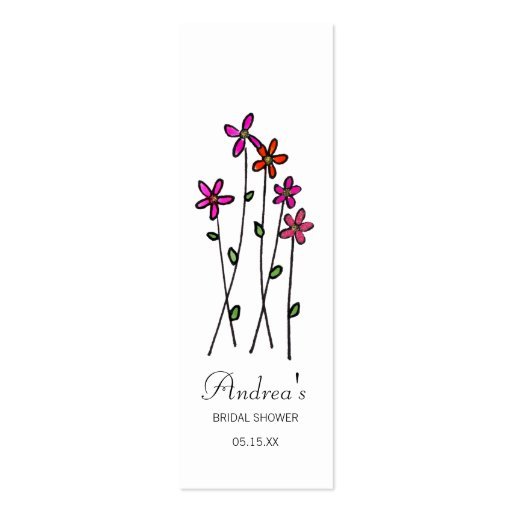 Long Stem Flower Gift Tags Business Card Templates
