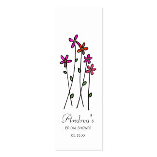 Long Stem Flower Gift Tags Pack Of Skinny Business Cards