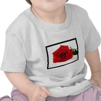 Long Stem Red Rose Baby T-Shirt