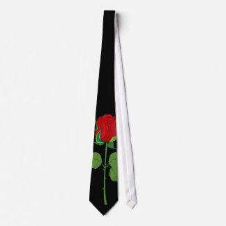 Long Stem Red Rose Tie