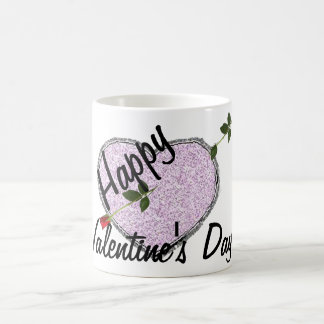 Long Stem Rose Arrow Happy Valentine's Day Mug
