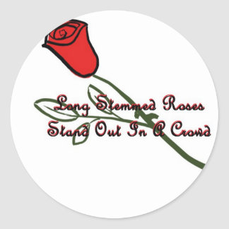 Long Stemmed Roses Round Stickers