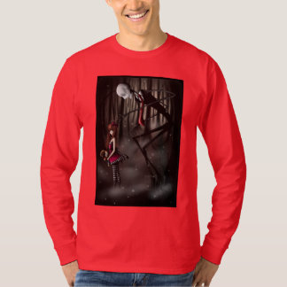 "Long tee-shirt sleeve ""SlenderMan "" T-Shirt"
