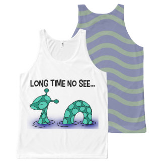 Long Time No See! All-Over Print Tank Top
