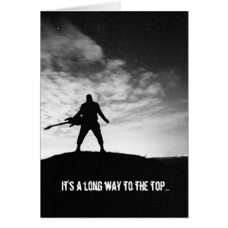 Long Way To The Top Rocker Birthday Card