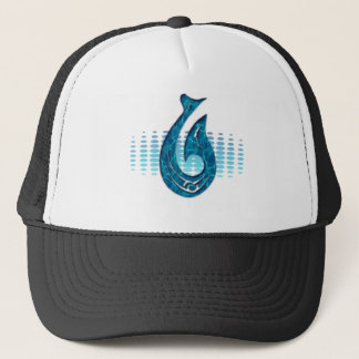 LONG WHITE VIRTUAL CLOUDS MERCHANDISE TRUCKER HAT