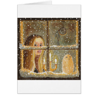 Long Winter Nights Greeting Card