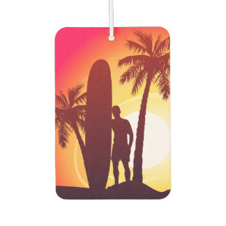 Longboard and palms car air freshener
