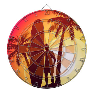 Longboard and palms dartboard