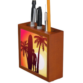 Longboard and palms desk organiser