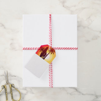 Longboard and palms gift tags