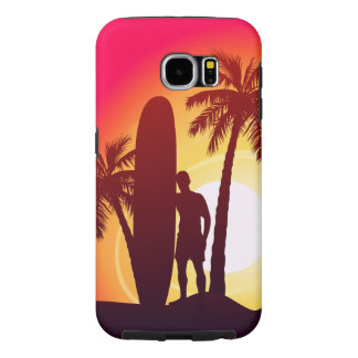 Longboard and palms samsung galaxy s6 cases