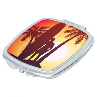 Longboard and palms travel mirrors
