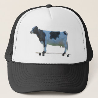Longboard cow trucker hat